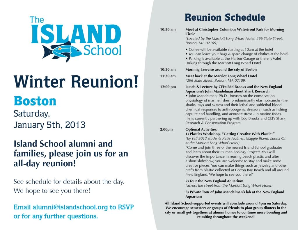 Reunion Schedule