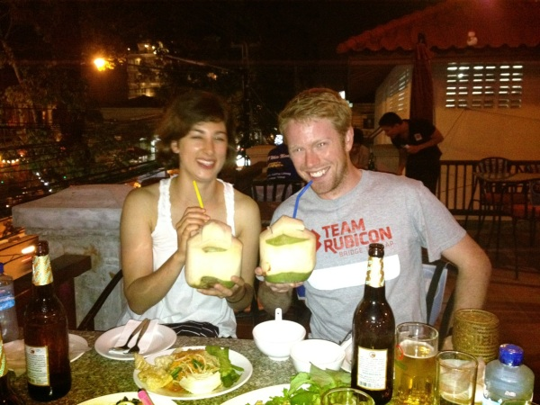 Katie White and Peter Meijer, Spring 2005, in southeast Asia